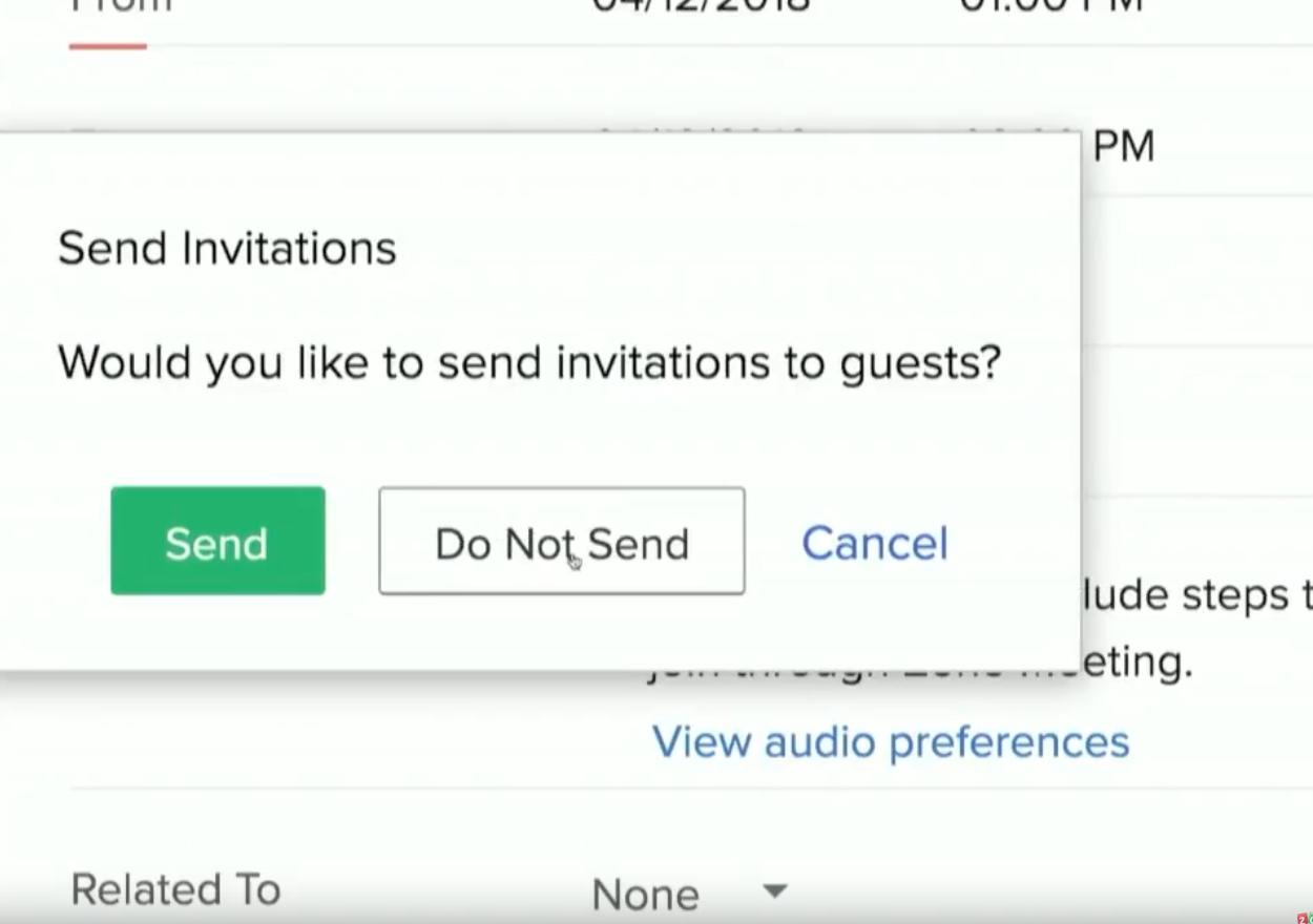 Capture d'écran Zoho Meeting