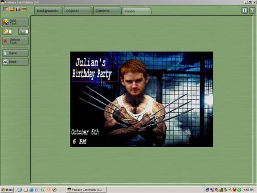 Capture d'écran FantasyCardMaker
