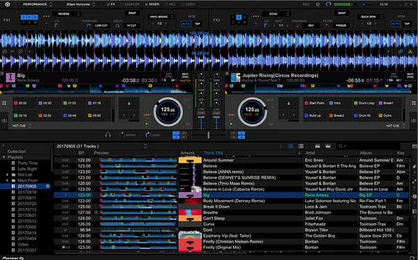 Capture d'écran Rekordbox Mac