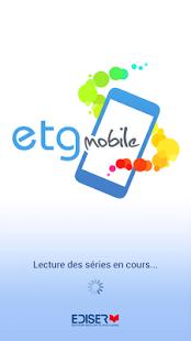 Capture d'écran ETG Mobile