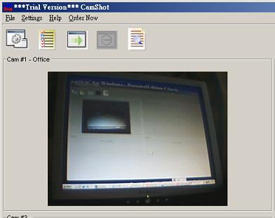 Capture d'écran CamShot Monitoring Software