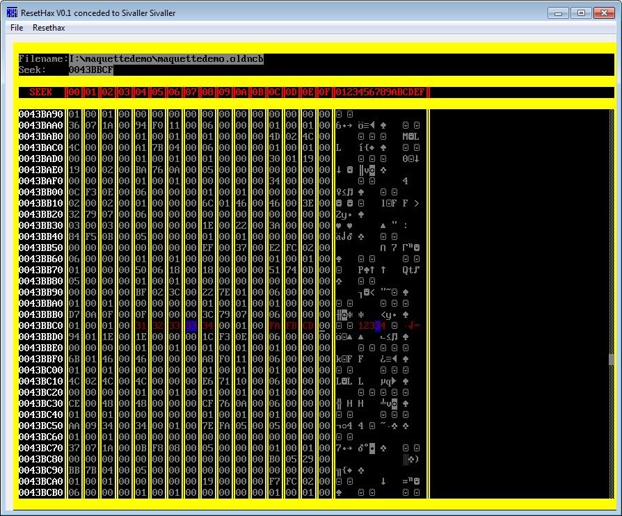 Capture d'écran ResetHax
