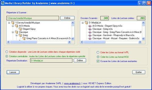 Capture d'écran Media Library Builder