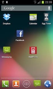 Capture d'écran Stock Launcher – Android 4.1