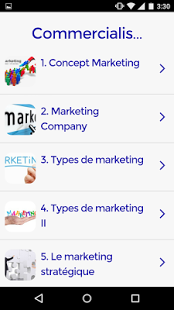 Capture d'écran Cours de marketing