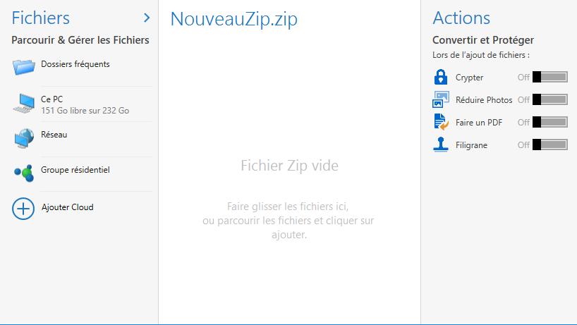 Capture d'écran WinZip