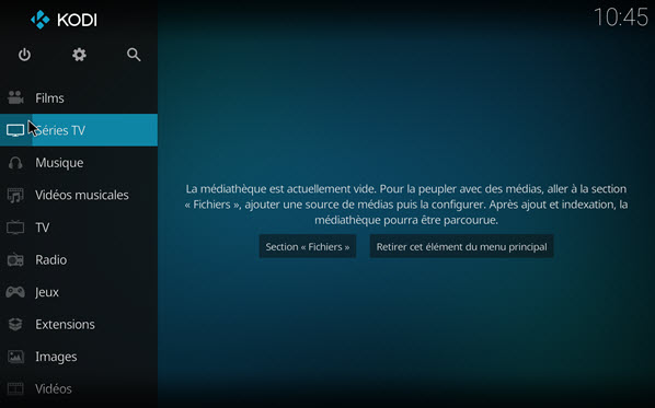 Capture d'écran Kodi (ex XBMC) Mac