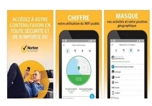 Capture d'écran Norton WiFi Privacy Android