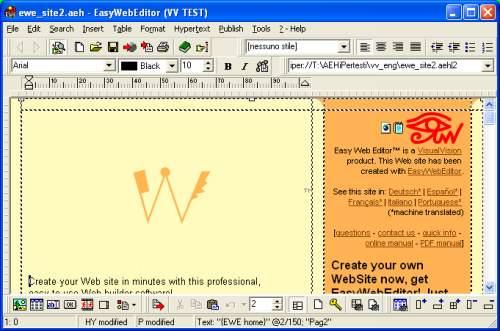 Capture d'écran Easy Web Editor