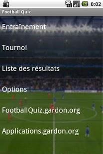 Capture d'écran Football Quiz