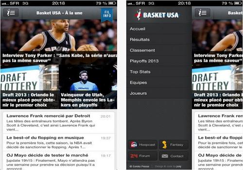 Capture d'écran Basket USA iOS