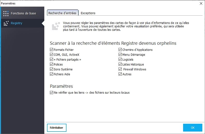 Capture d'écran Ashampoo Registry Cleaner
