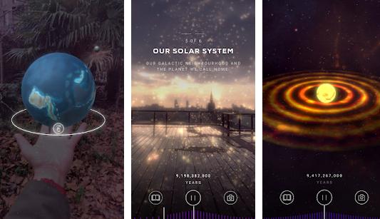 Capture d'écran Big Bang AR (Android / iOs)