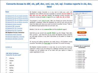 Capture d'écran DB Elephant Access Converter
