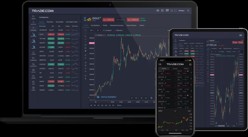 Capture d'écran Trade.com