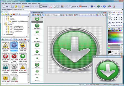 Capture d'écran Axialis IconWorkshop