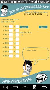 Capture d'écran Notas Universidad App