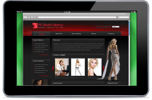 Capture d'écran PG Model Agency