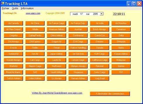 Capture d'écran Tracking Lta