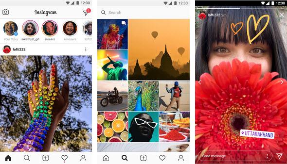 Capture d'écran Instagram Lite Android
