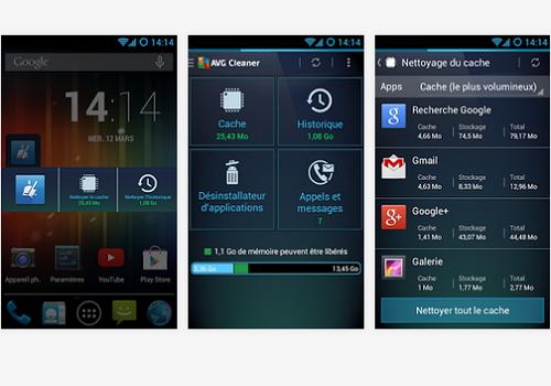 Capture d'écran AVG Cleaner Android