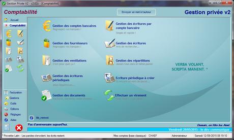 Capture d'écran GP2 (Gestion Privée, la v2)