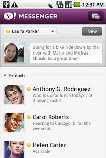 Capture d'écran Yahoo Messenger