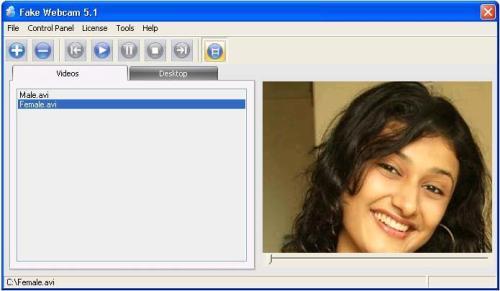 Capture d'écran Fake Webcam