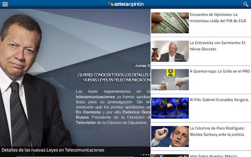 Capture d'écran Azteca Opinión