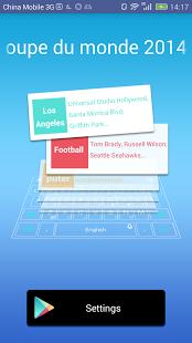 Capture d'écran Dictionnaire Coupe du monde