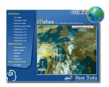 Capture d'écran iMeteo