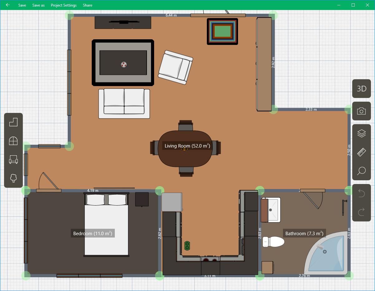 Capture d'écran Planner 5D