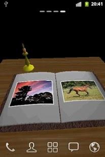 Capture d'écran Livre Photo 3D Live Wallpaper