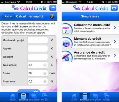 Capture d'écran Calcul Crédit iOS