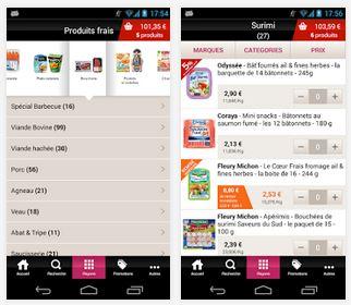 Capture d'écran Drive Intermarché iOS