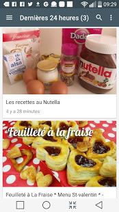 Capture d'écran Desserts