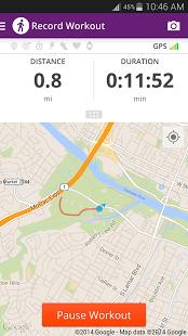 Capture d'écran Map My Walk  GPS Pedometer