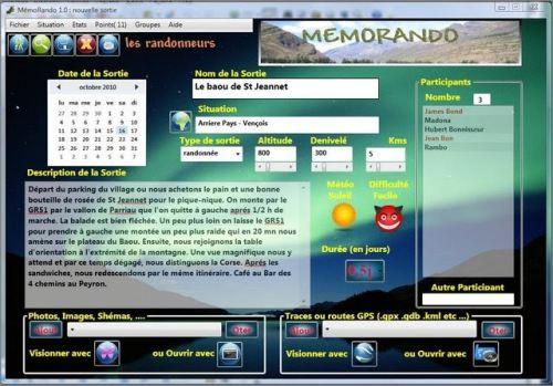 Capture d'écran Memorando