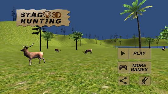 Capture d'écran 3D de chasse au cerf