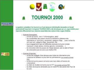 Capture d'écran TOURNOI 2000