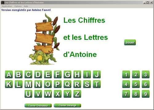 Capture d'écran Les Chiffres et les Lettres d' Antoine