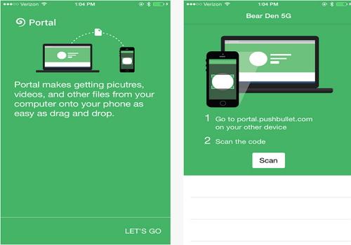 Capture d'écran Portal Android