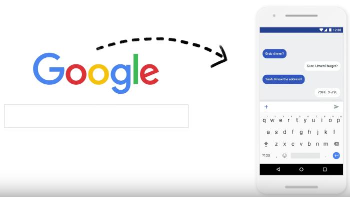 Capture d'écran Gboard le clavier Google Android