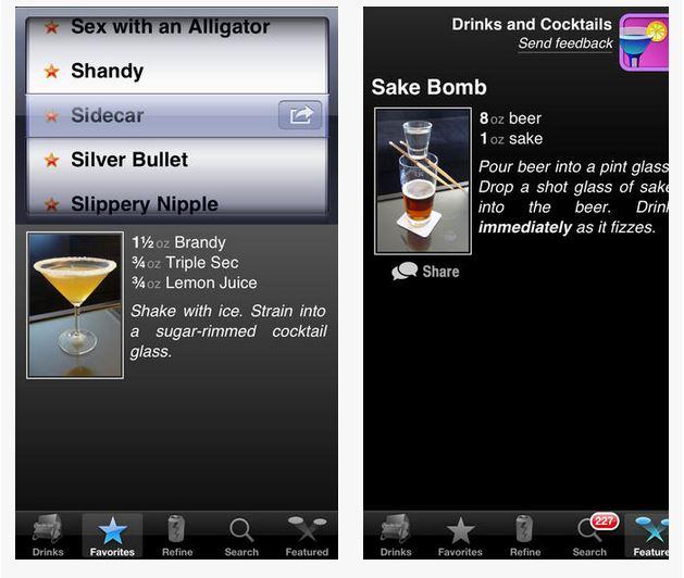 Capture d'écran Drinks and Cocktails iOS