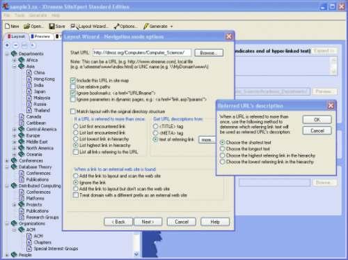 Capture d'écran Xtreeme SiteXpert Standard Edition