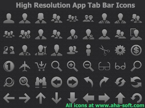 Capture d'écran High Resolution App Tab Bar Icons