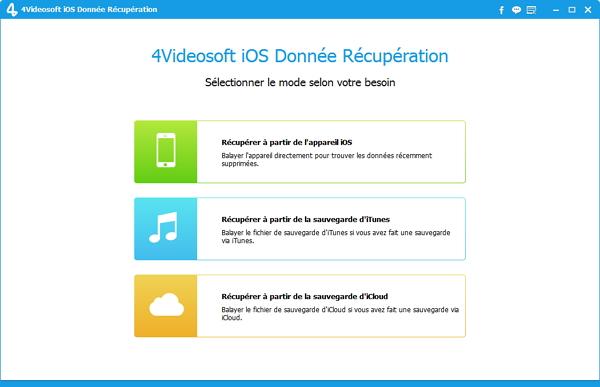 Capture d'écran 4Videosoft iOS Donnée Récupération