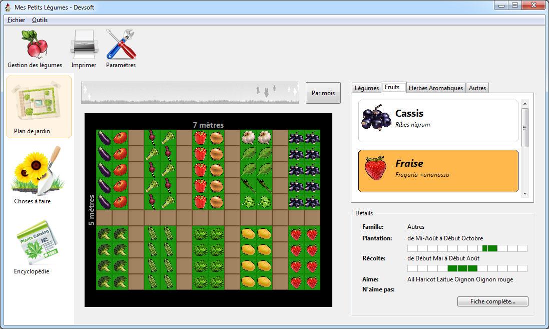 Capture d'écran Mes Petits Légumes