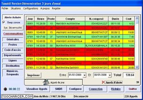 Capture d'écran Taxatel technologie