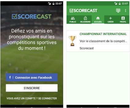 Capture d'écran Scorecast Free – Euro 2016 Android
